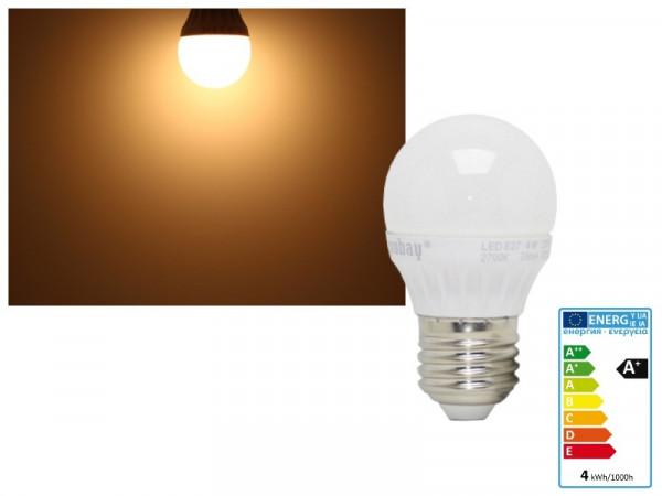 LED Lampe Globe E27 4W 320 Lumen warmweiss