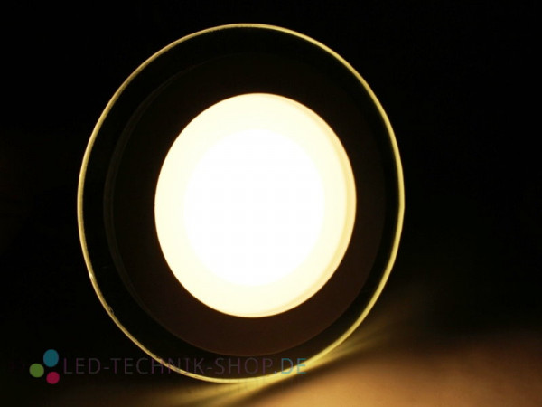 LED Glas Design Downlight 6W warmweiss