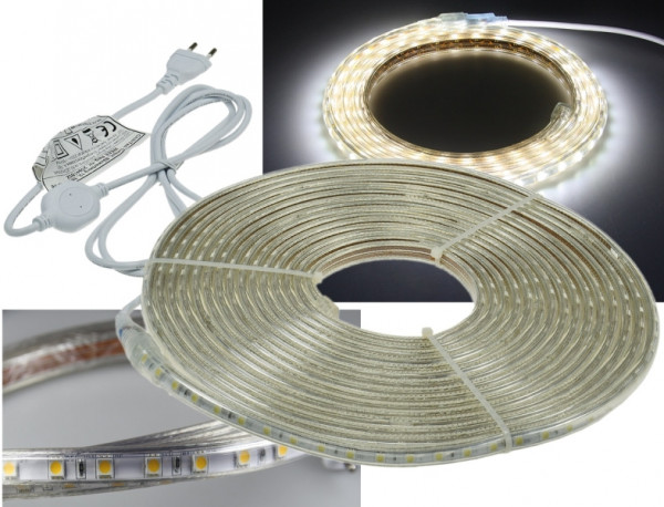 "230V LED Strip ""Ultra-Bright"" IP44 10m kaltweiss"