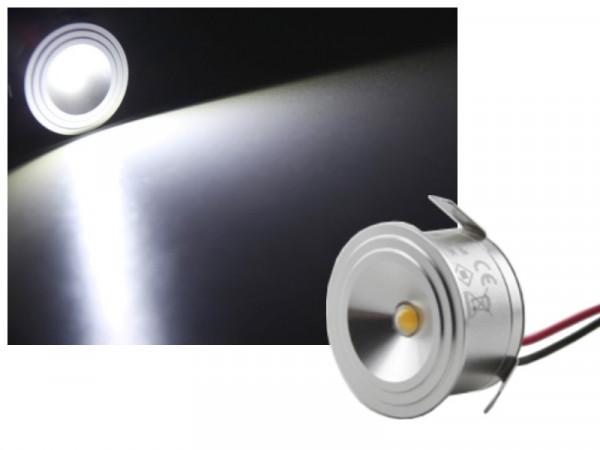 Alu LED Einbauleuchte IP65 3W 12-16V kaltweiss
