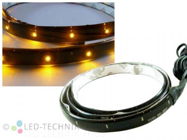 LED Black Strip IP65 120cm 60 LED gelb-orange