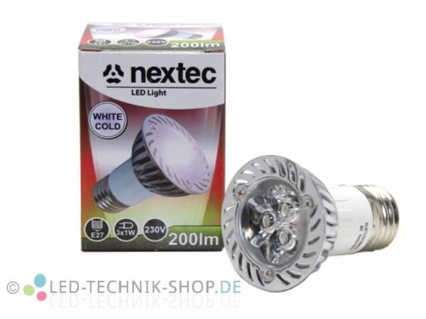 LED Strahler 3W E27 200lm kaltweiss