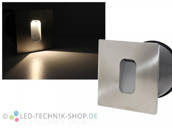 Edelstahl LED Wandeinbauleuchte 3W eckig IP65