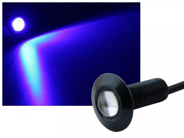 Alu COB LED Spot Schraube Typ-2 1,2W blau