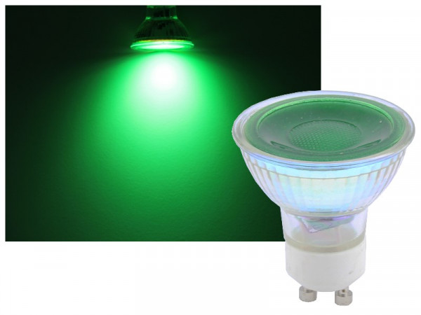 Omnilux GU10 LED Strahler 7W grün 36°