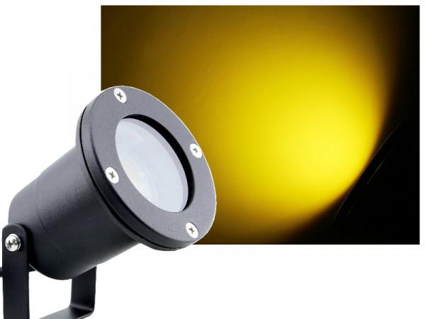 7W LED Anbau-/ Unterwasserstrahler IP68 gelb