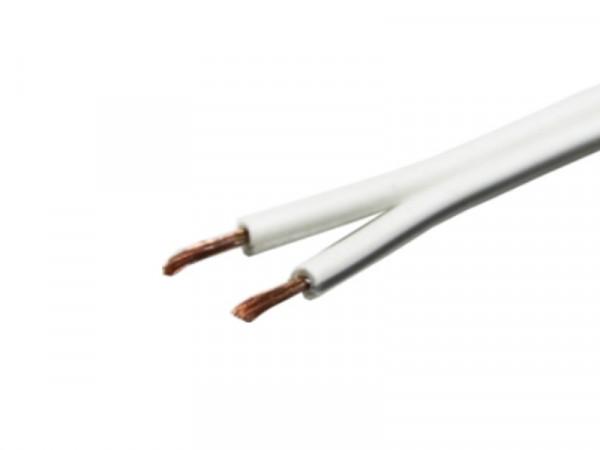Kabel Zwillingslitze weiss 2x1,5mm²