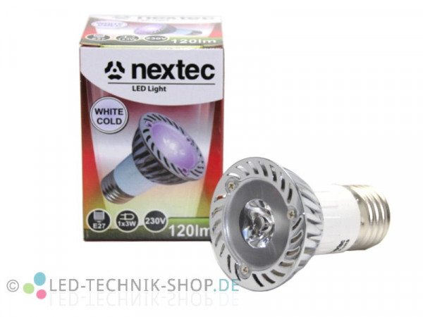 LED Strahler 3W E27 120lm kaltweiss