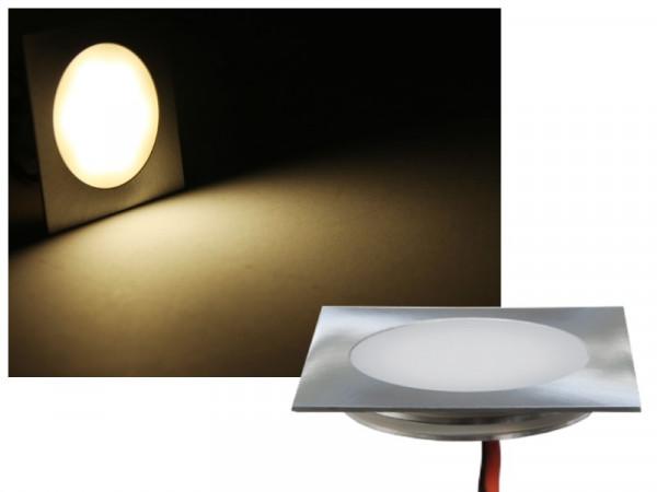 FINE Edelstahl LED Einbauleuchte eckig IP67 12V neutralweiss