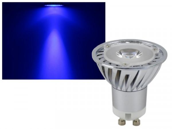 LED Strahler GU10 blau 3W