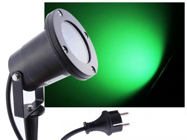 LED Gartenstrahler 7W grün IP68 230V schwarz