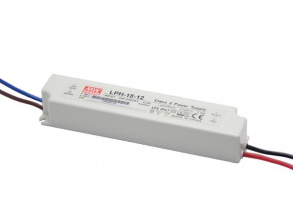 MeanWell LED Trafo IP67 wasserdicht 12V 18W