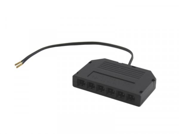 Mini AMP Verteiler 6-fach schwarz