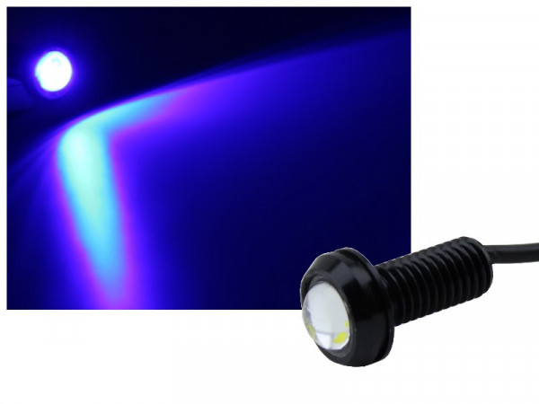 Alu COB LED Spot Schraube Typ-3 1,2W blau
