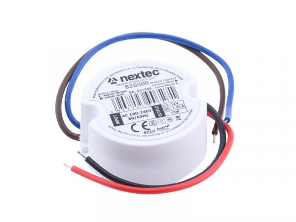 Nextec LED Trafo Mikro IP67 12V 15W rund