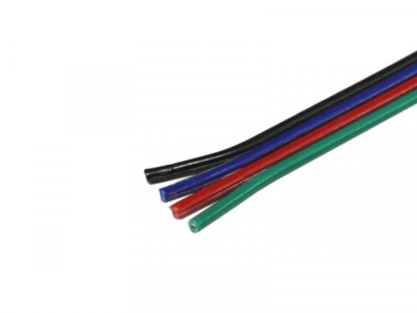 Kabel Litze RGB flach 4x0,14mm²