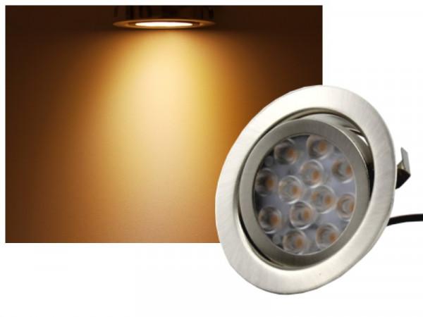 LED Einbauleuchte schwenkbar 12V 3W 200lm warmweiss