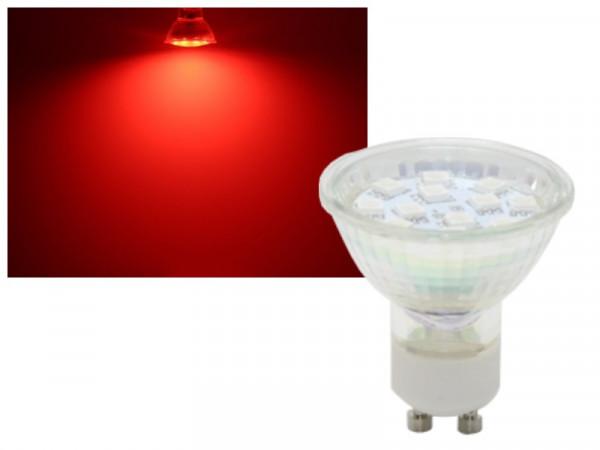 LED Strahler GU10 1,5W rot