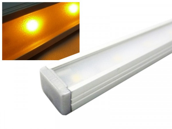 Alu LED Leiste Slim gelb/orange