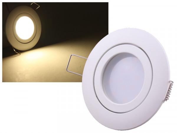 LED Einbauleuchte Eco Weiss 5W neutralweiss dimmbar