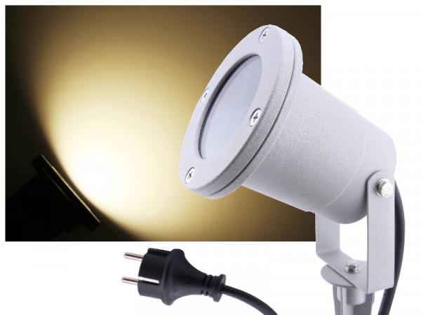 9W LED Außenstrahler 900lm neutralweiss Alu silber