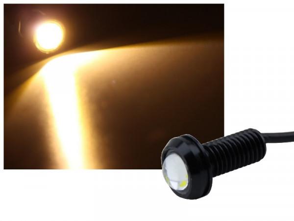Alu COB LED Spot Schraube Typ-3 1,2W warmweiss